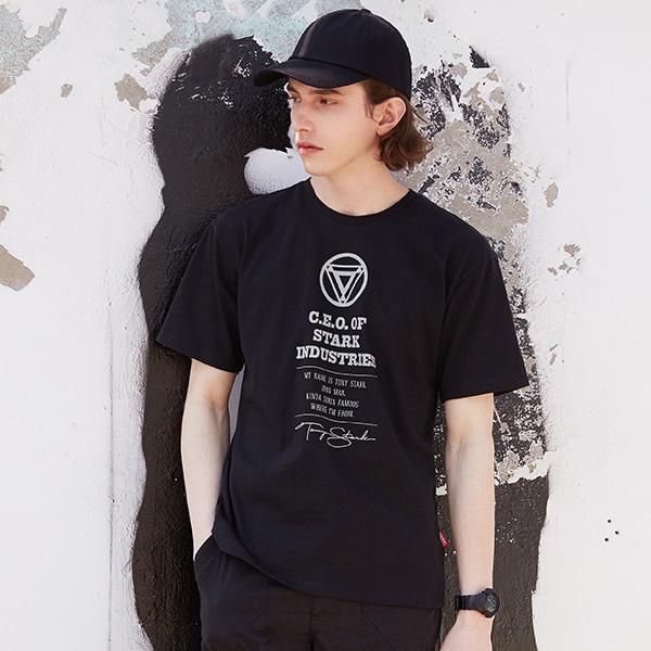 아이언맨 박스핏 반팔 티셔츠
